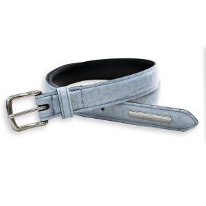 Sea breeze patent blue belt